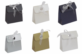 Pearlescent Bag Box Wedding / Party Favour Boxes - Choose Colour - Choose QTY